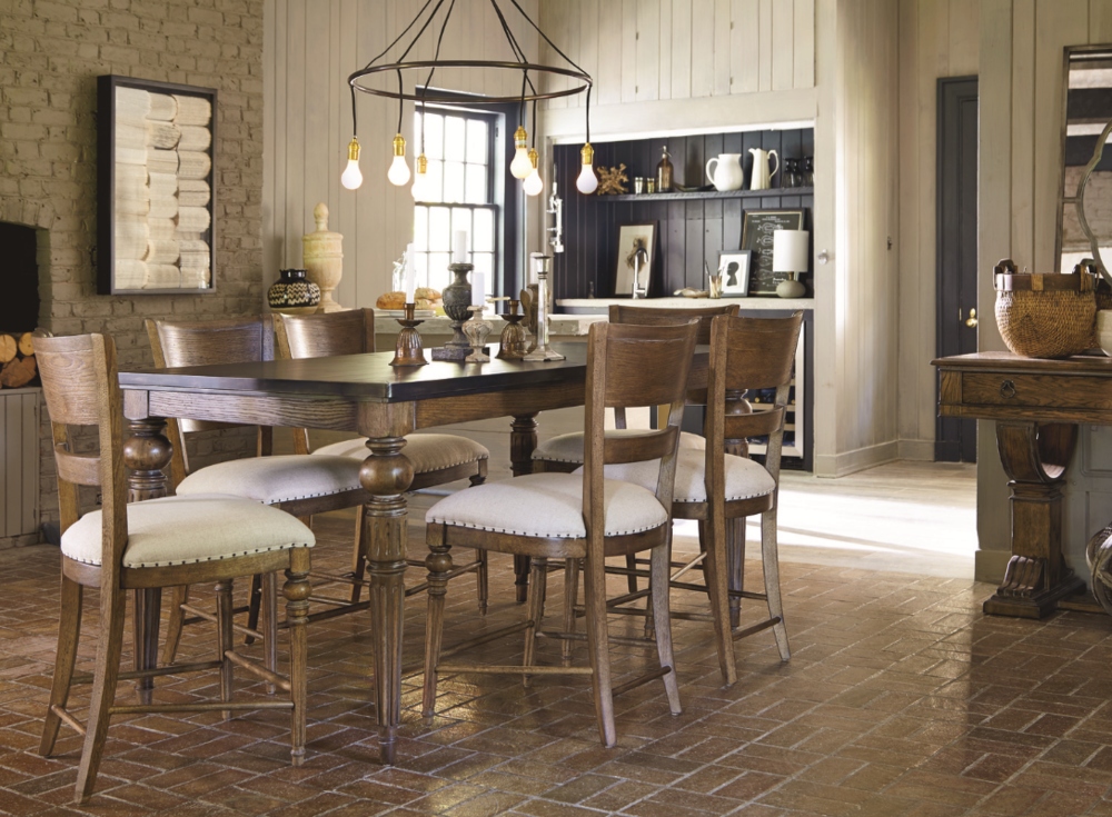 New Bohemian Collection Casual Dining Dudley Moore, ASFD                                 Lenny Chapman, ASFD Universal Furniture