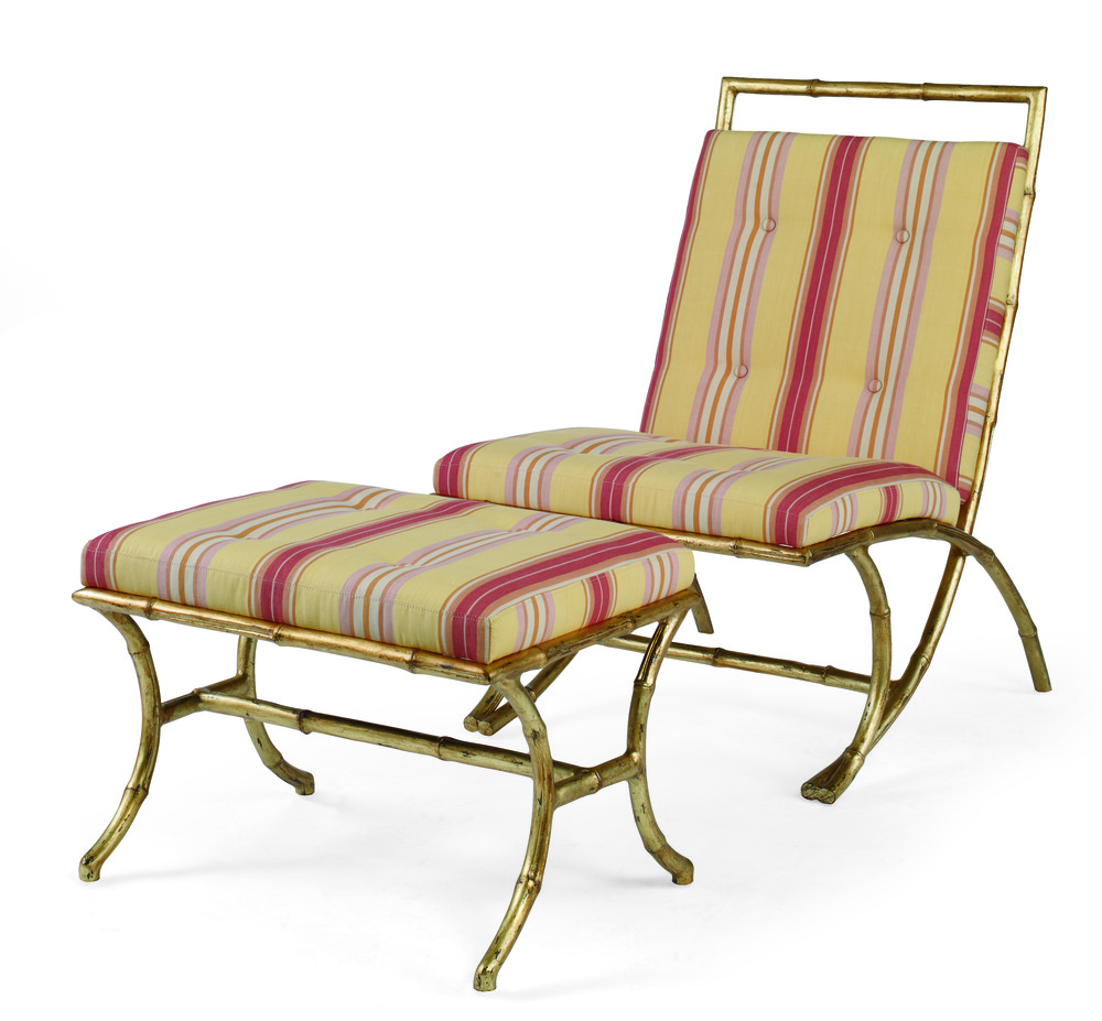 Beaufort Bamboo Chair & Ottoman Charlotte Moss  Century Furniture