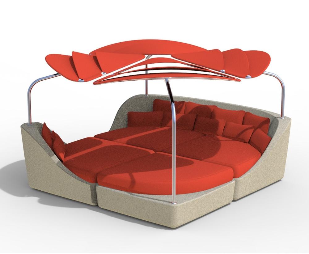 SPASSO Modular & Sun Shade John Caldwell ASFD; Tropitone Furniture