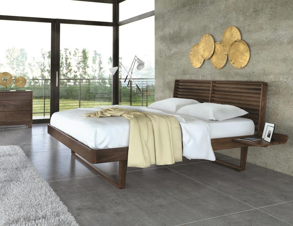 Contour Bed with Shelf Nightstands        Armin Driver Ben Copeland Tim Copeland Copeland Furniture