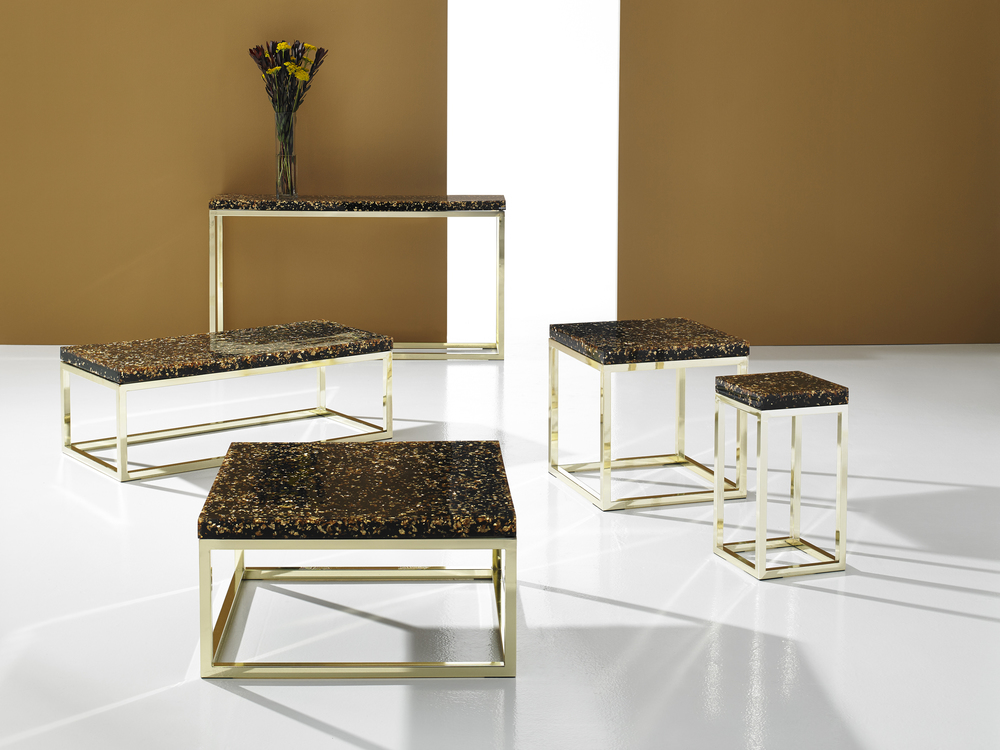 Captured Gold Flake Tables