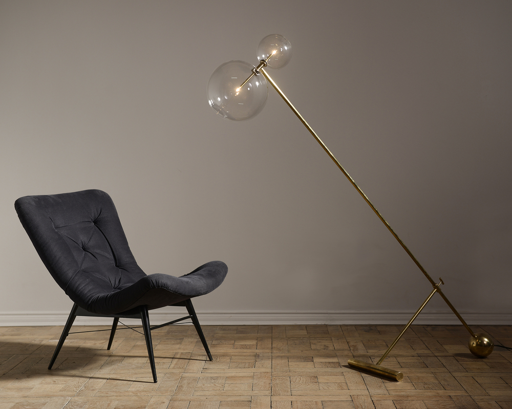 Brass Zosia Floor Lamp