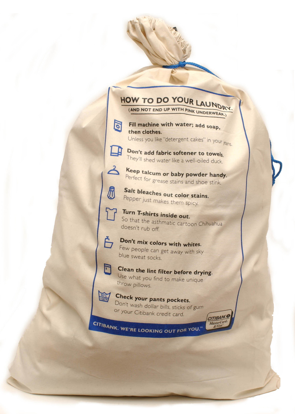 Free Laundry Bag Give Away