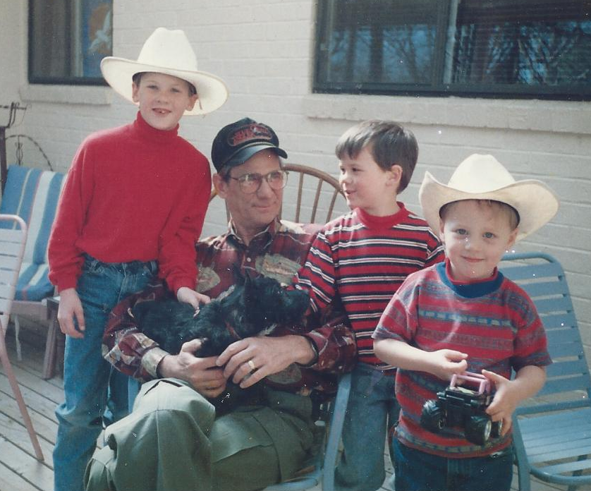 My son Mitchell, Dad, my son Matt and nephew Michael. 1995