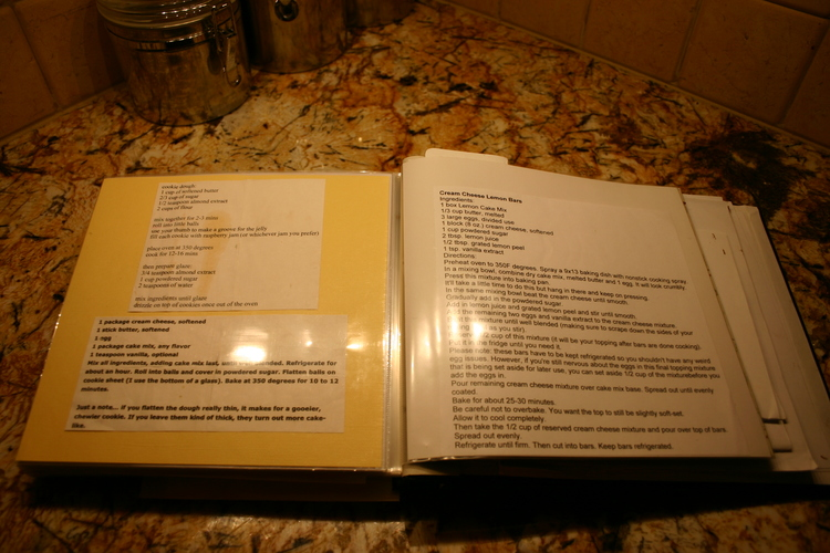 Easy recipe book beckwiths treasures i found the easiest way to do this was to cut and paste the recipe into an email email it to myself and then print it off if it passed the family solutioingenieria Images