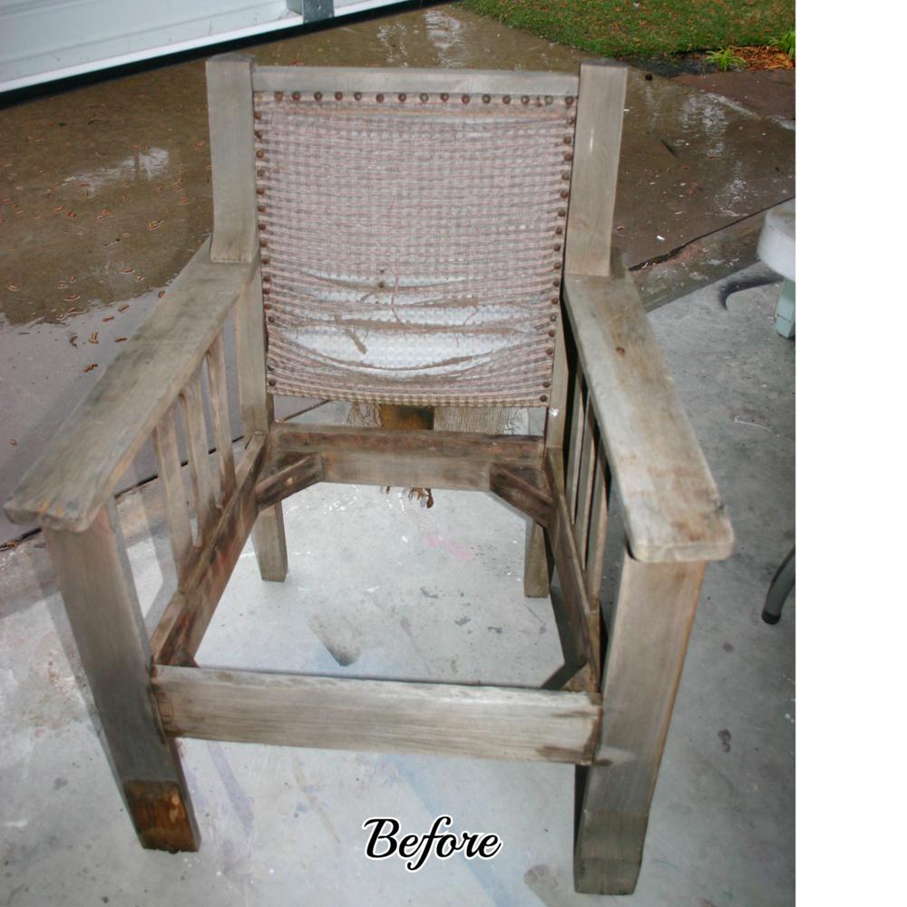 Primitive Mahogany Chair.