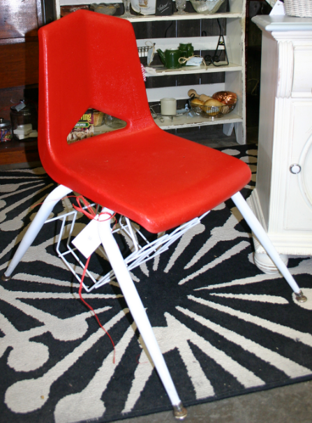 "Painting Plastic Chairs updated ""antique"" school desk and school chair — beckwith's"