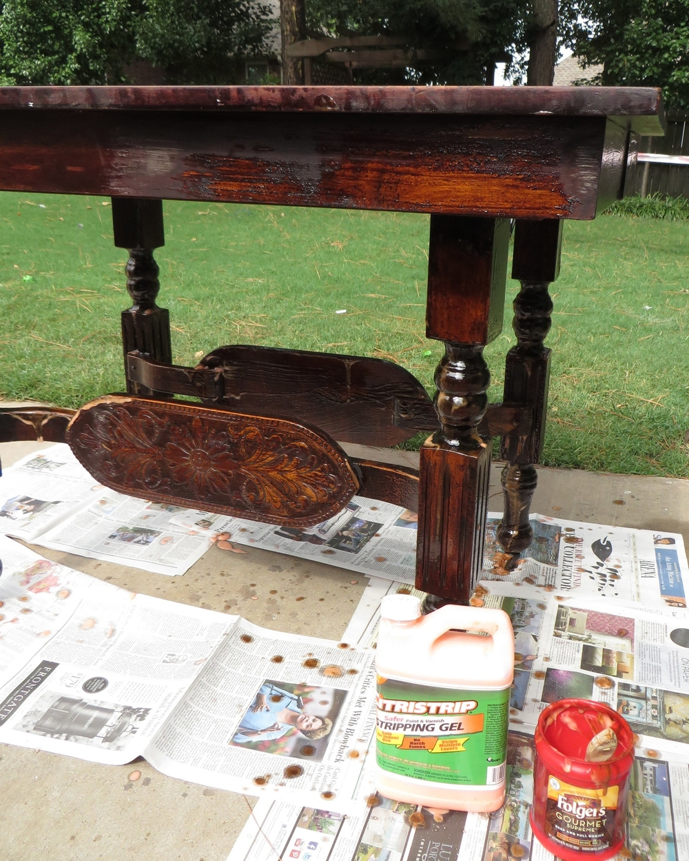 Dining Room Table Refinishing: Refinishing A Dining Table...a Tutorial!