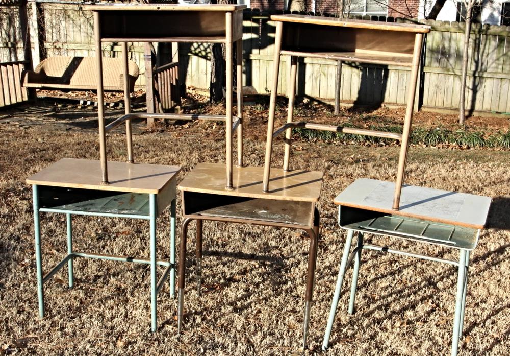 School Desk Makeovers Beckwith S Treasures