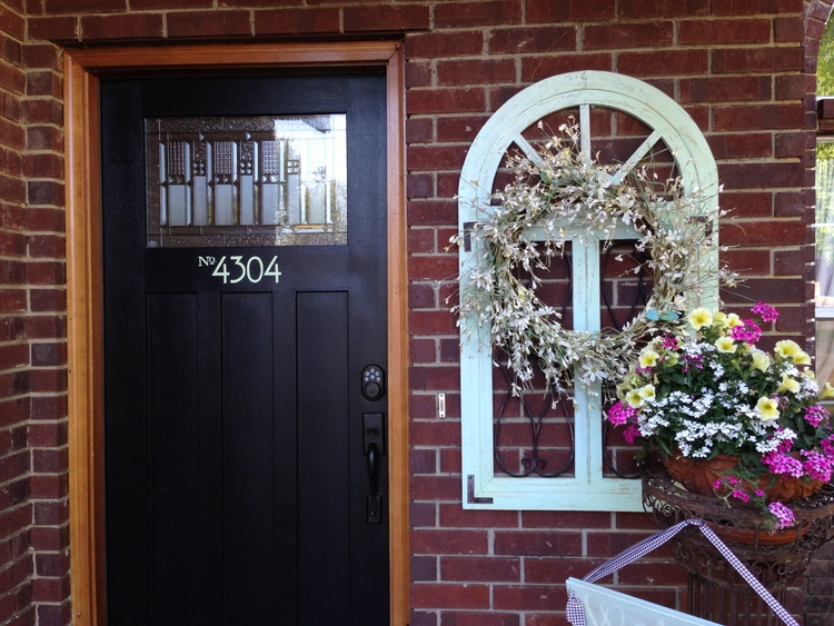 Check out the tutorial HERE on how to paint your address on your front door...the RIGHT way! & Paint your front door...the right way! \u2014 Beckwith\u0027s Treasures