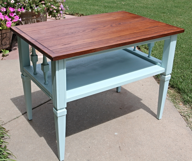 Little oak side table.... — Beckwith\'s Treasures