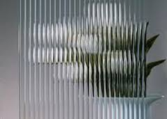 Reeded glass!