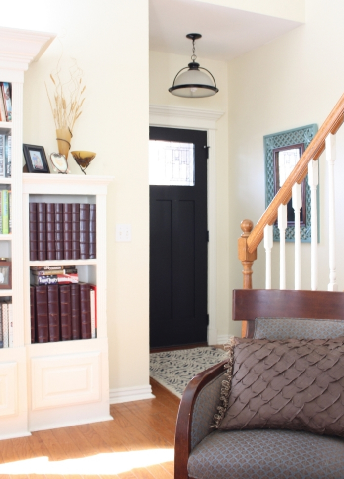 Foyer Closet Crossword : Entry and stairway makeover reveal beckwith s treasures