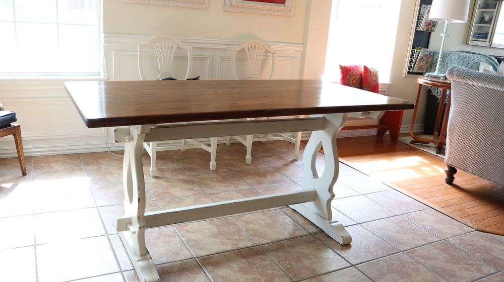 ... Inspiration, KSTP, Paint, Refinish Tagged Farmhouse Table, Oak Dining  Table, Chalk Paint, Trestle Table, Refinish, Trestle Farmhouse Table Source