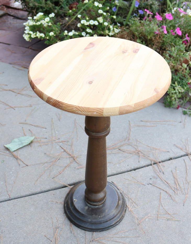 She Bought The Little Pedestal At A Garage Sale And Attached A Round Craft  Board For The Top. She Hadnu0027t Gotten Around To Painting It And That Was  Just Fine ...