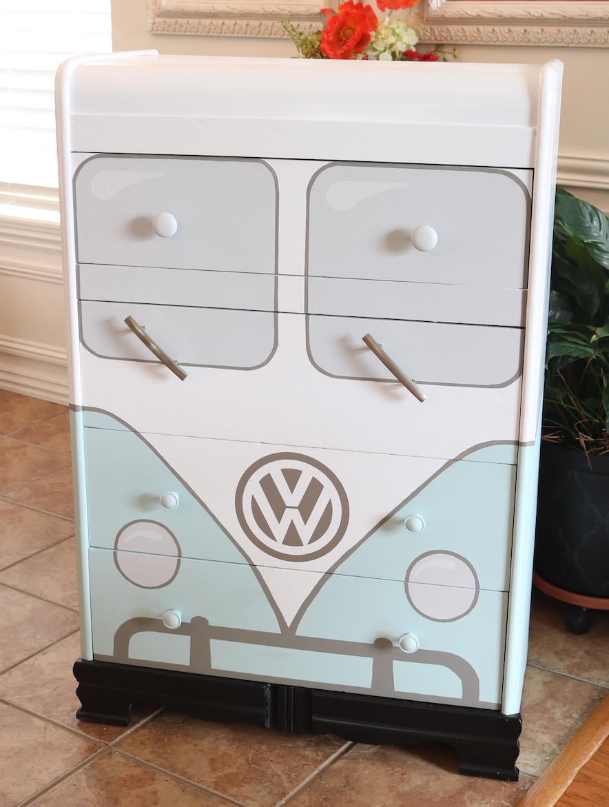 Vw Bus Chest Of Drawer Makeover Beckwith S Treasures