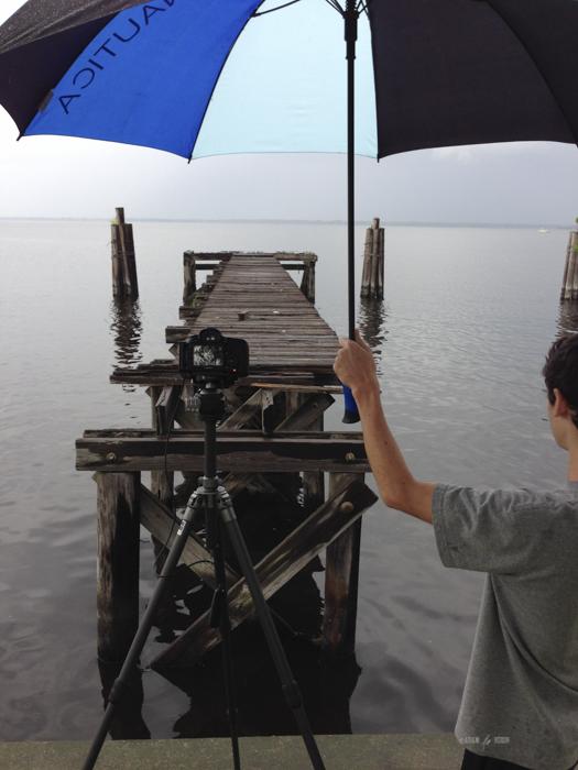 My behind the scenes helper. Old docks, Sanford, Florida