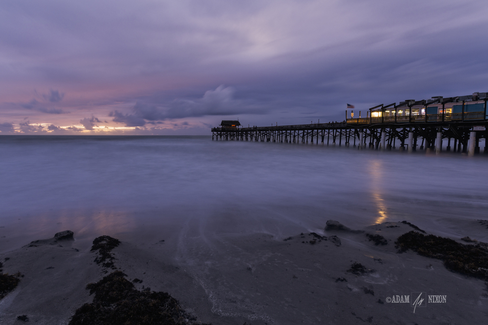 Cocoa Beach Pier.  Canon 5dIII w/16-35mm, 60sec @f/16, ISO 100.  Processed in Lightroom 5, Photoshop CC 2014 and onOne Perfect Effects 9