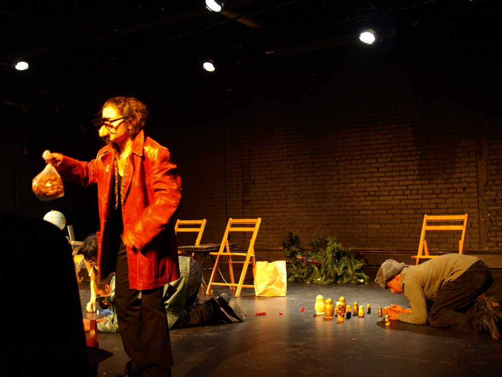 Jo-an Peralta, Katie Cohn and Cedric Lilly in  Over the Top  (Providence Playwrights Festival) .  Photo by David Higgins