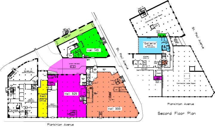 floor layouts for pritzlaff events - host your next wedding