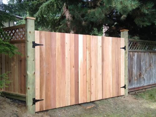 cedar-outdoor-swinging-gate-naked-white-ladies-peeing