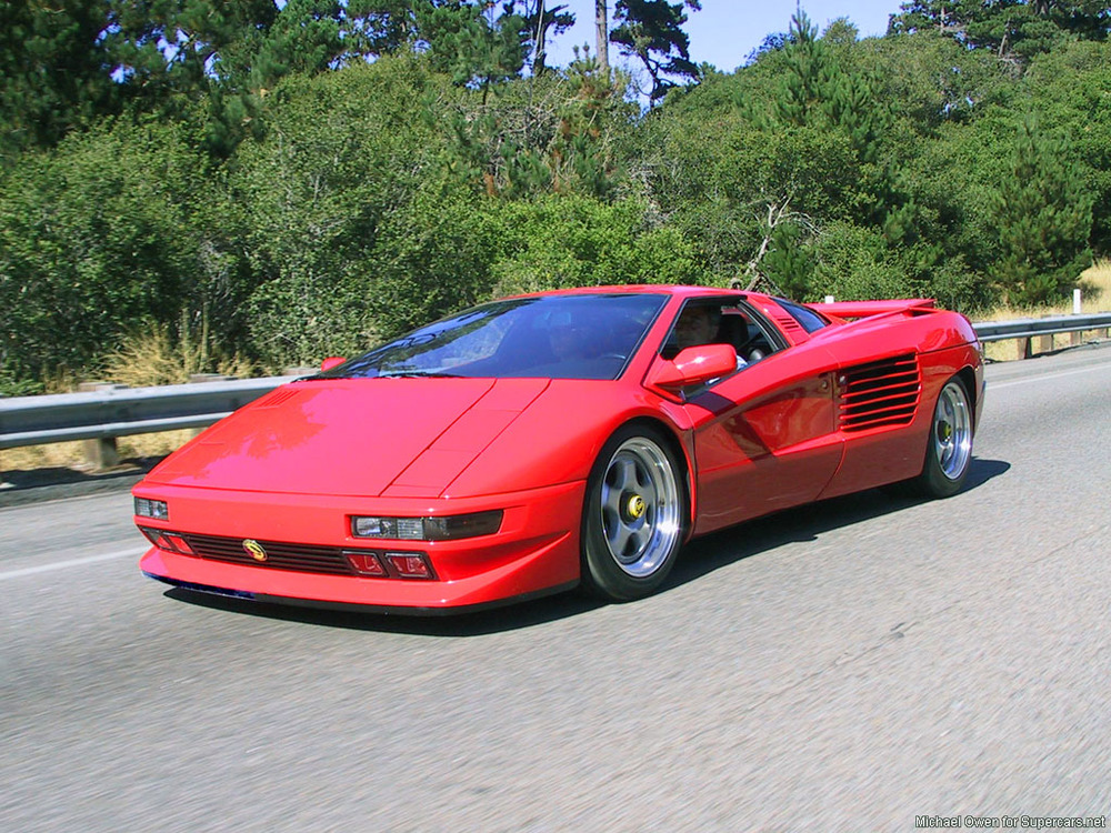 This is a Cizeta-Moroder V16T. I know we said it was late 90s, but it's definitely late 80s. It's about the most late 80s you can get. It's as if someone made Guns 'N' Roses into a car.