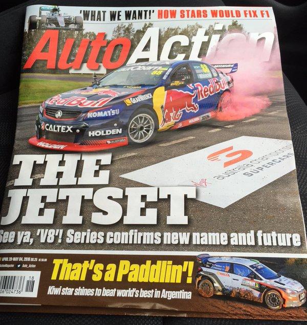 Also no longer part of Australian motorsport: this magazine. Vale Auto Action, 1971-2016.