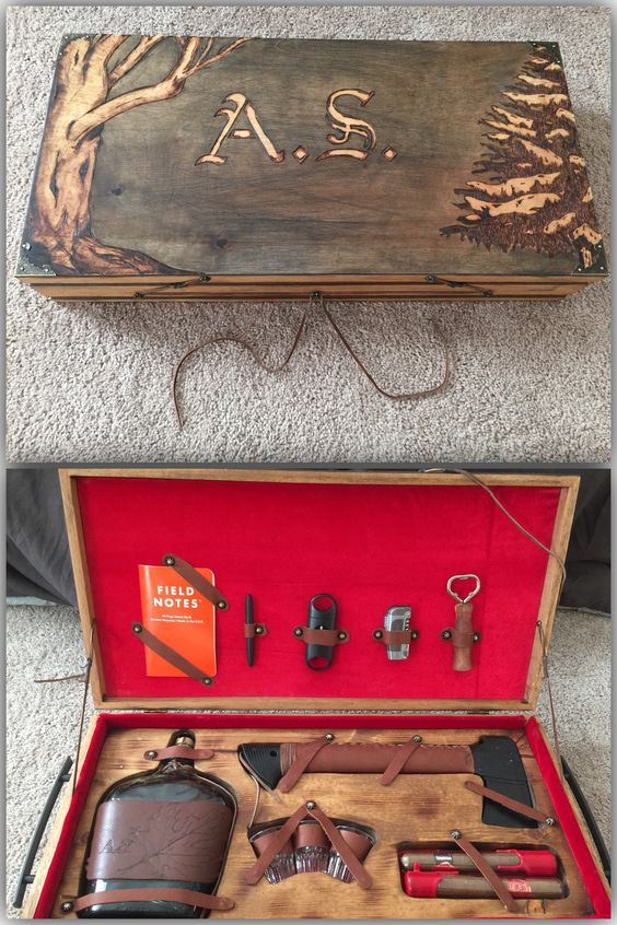 Hand Carved Hunting Kit