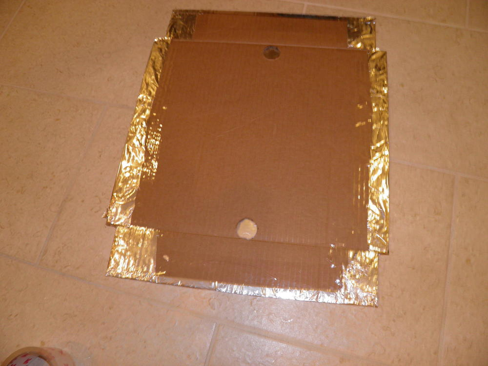 Aluminum Foil Taped to Cardboard