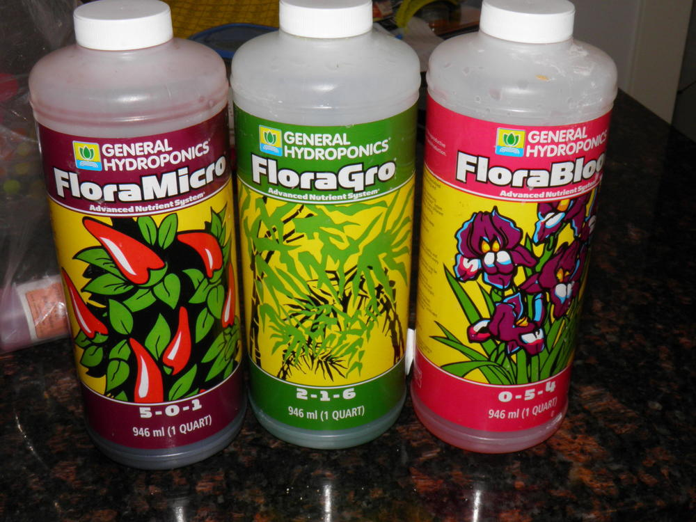 General Hydroponics Flora Series Nutrients
