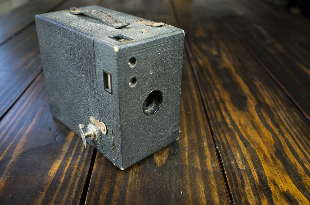 Eastman-Kodak Box Brownie, converted for tintype use.