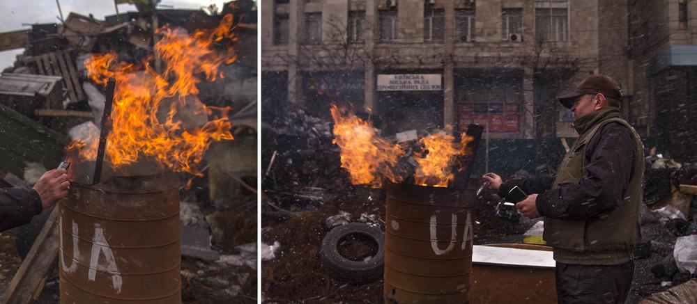 Primero de abril. Retrato de ambiente en el Maidan de Kiev. Foto: María Torres-Solanot ©