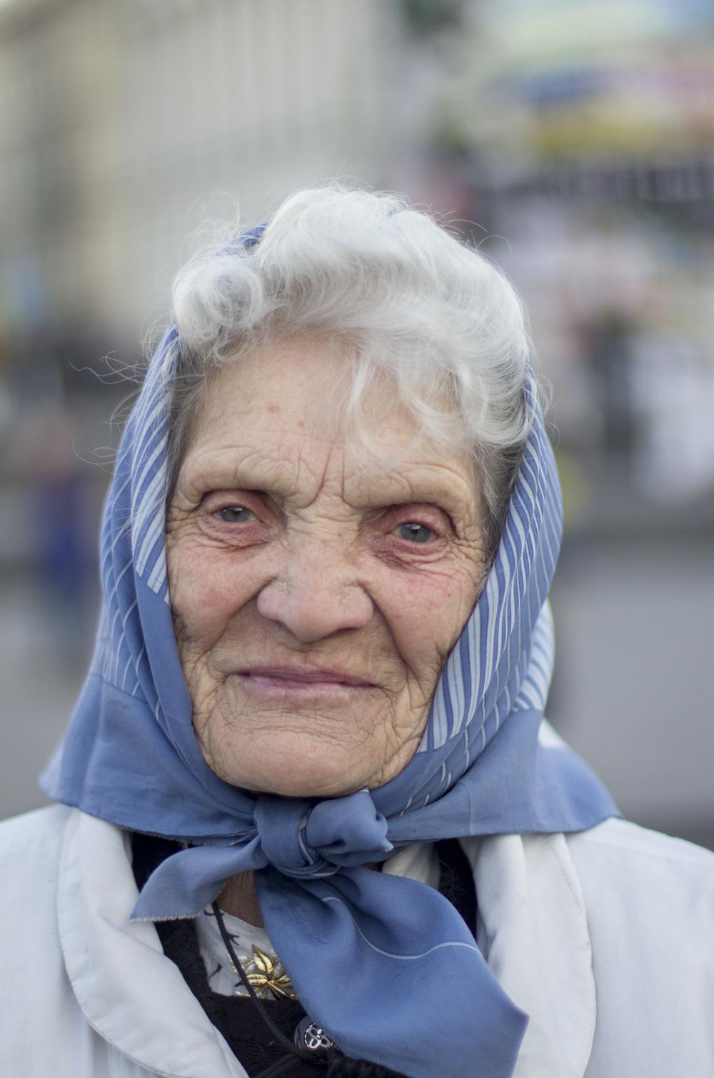 Nadia en el Maidan de Kiev. Foto: María Torres-Solanot ©