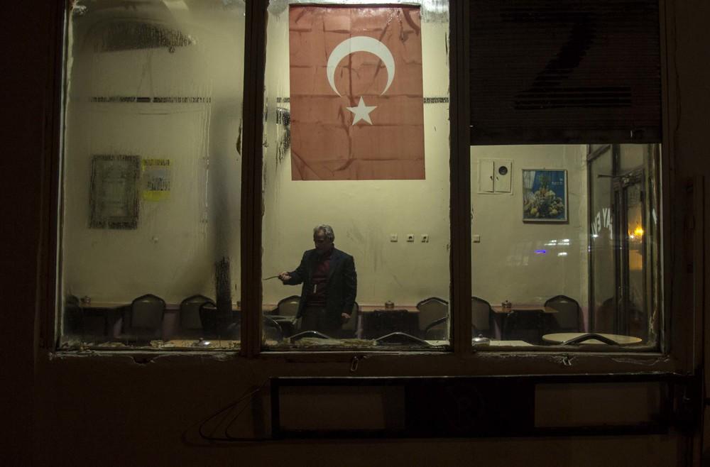 Tea house in Erzurum (Turkey)
