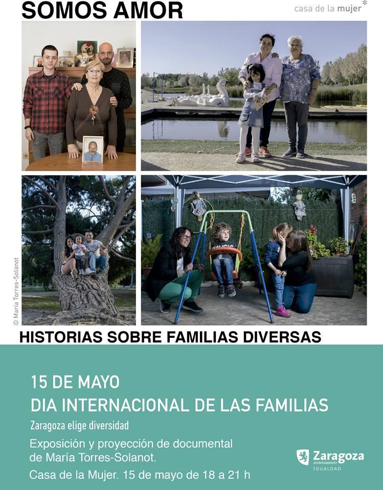 Exposición fotográfica en La casa de Las Culturas de Zaragoza hasta el 5 de mayo de 2017  Familias diversas. LGBTIQ y monomarentales.