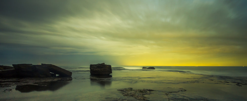 Sunset at the Rockpools in Mona Vale