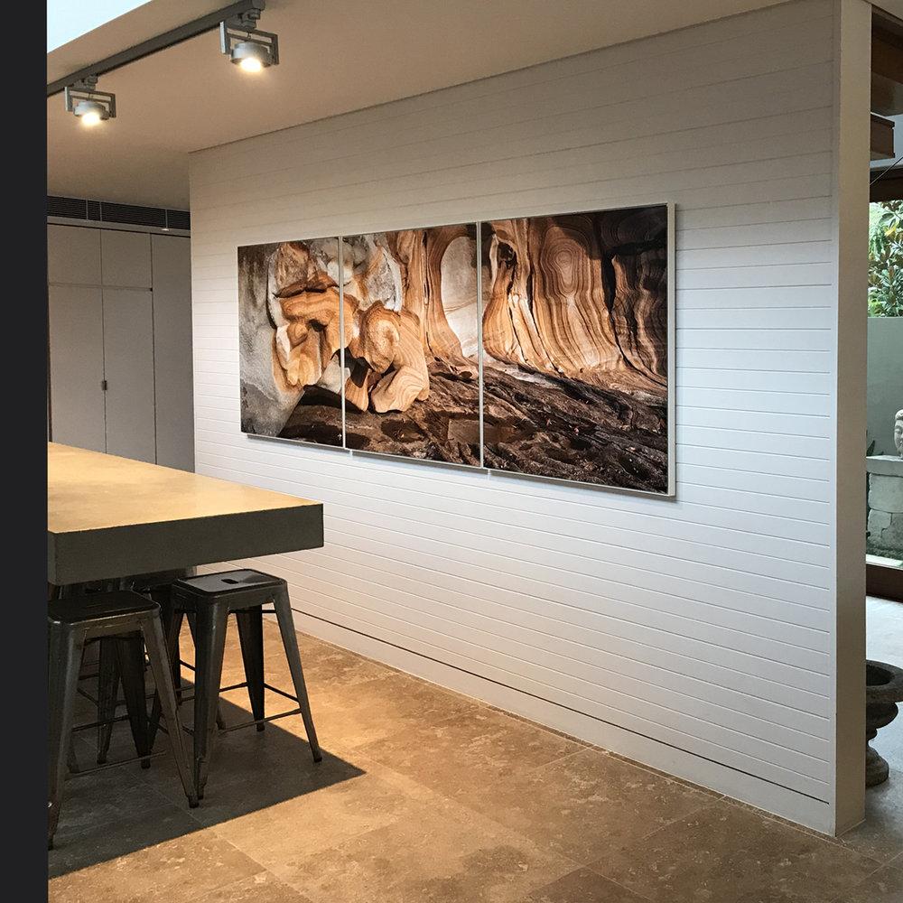 3 1mx1m Works on Metal - West Head Rocks at Luxury Palm Beach Residence