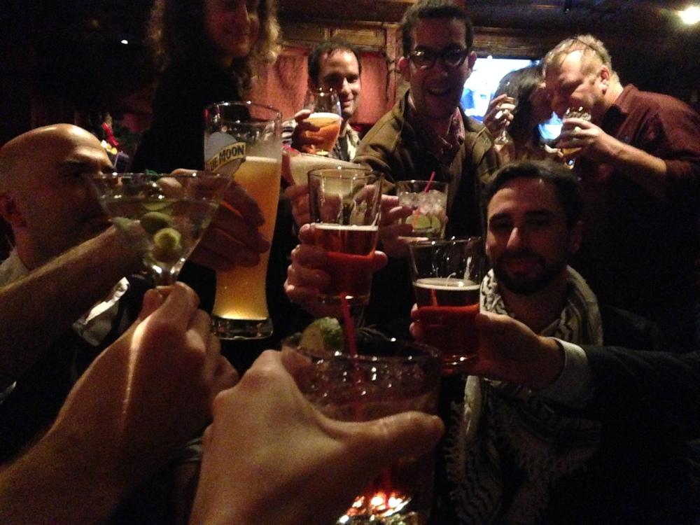 Cheers to Isham Christie! Photo by Anna Holtzman.