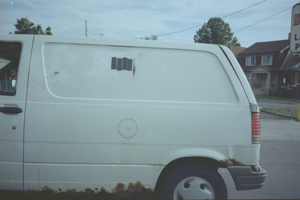 Black Flag Van.  Windsor/Detroit, 2103.