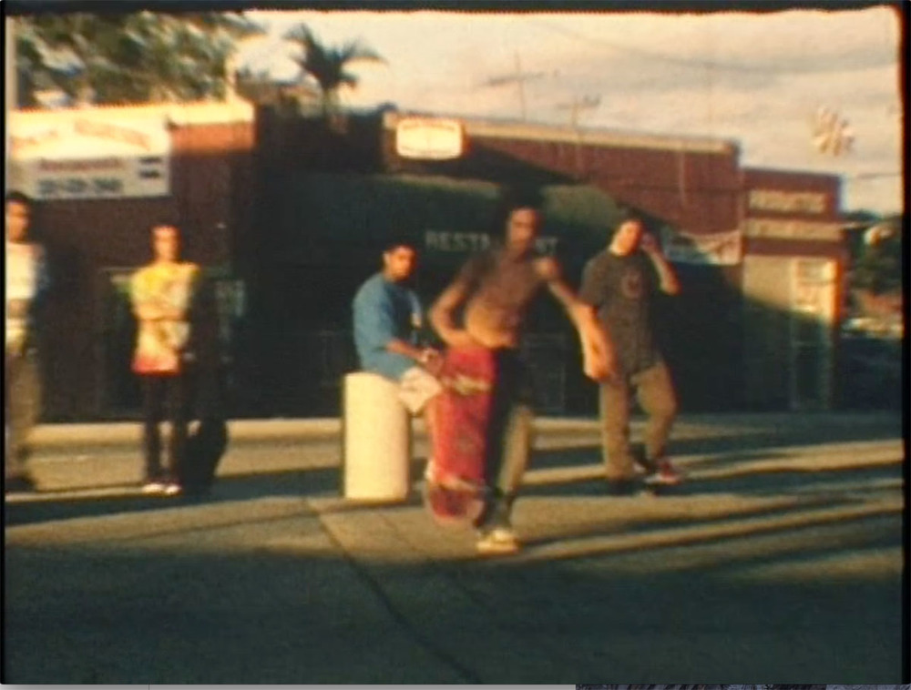 Skating in Miami. Film still,2012. From a series of photos made during multiple extensive tours of the Bible Belt and the Mississippi Delta in the Southern United States. The images reveal a stark glimpse into life below the Mason-Dixon line in all it's glory. The entire project was shot on the road in a Keroucian frenzy as seen through the eyes of a rolling bandwagon of skateboarders.