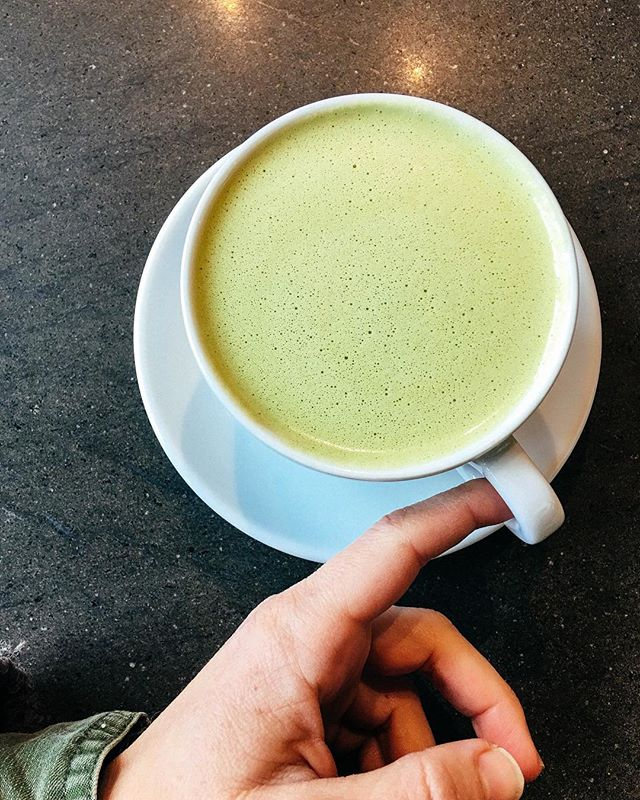 Back on a matcha kick after discovering this one at @MananaAtx.  Not too sweet which is perfect. I think I'll be able to squeeze in a few more hot versions of this before switching over to iced completely. 🙌🏽🍵