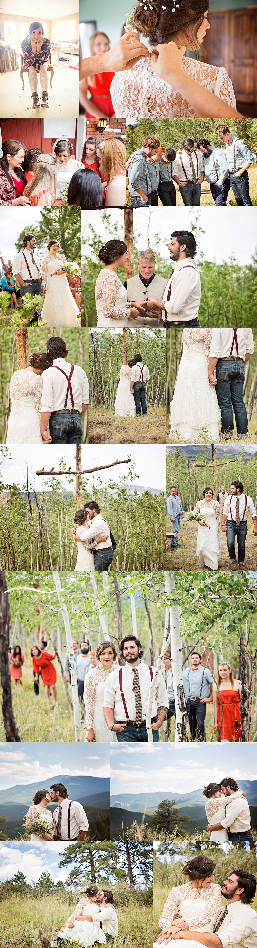 Wedding Photography by Ashley McKenzie Photography in Bailey, Colorado