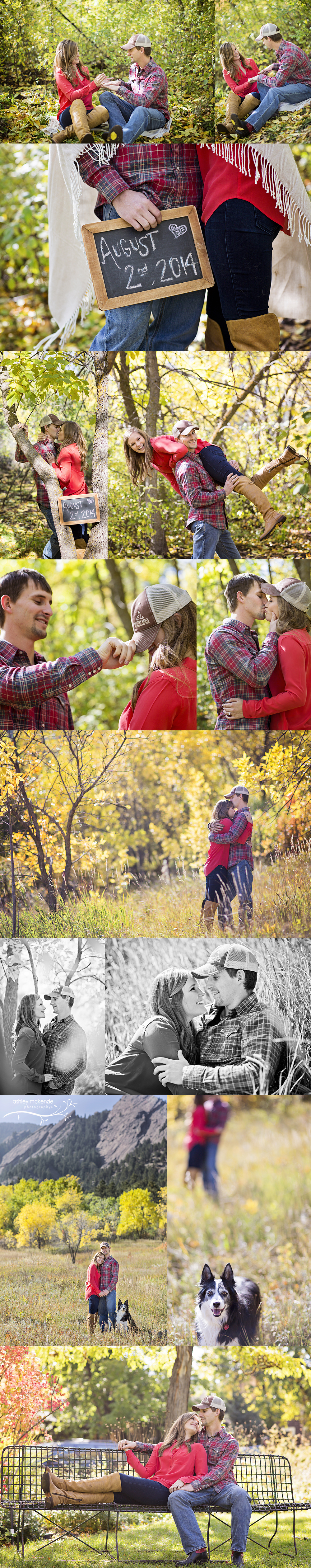 Engagement Photography By Ashley McKenzie Photography at Chataqua Park in Boulder, CO