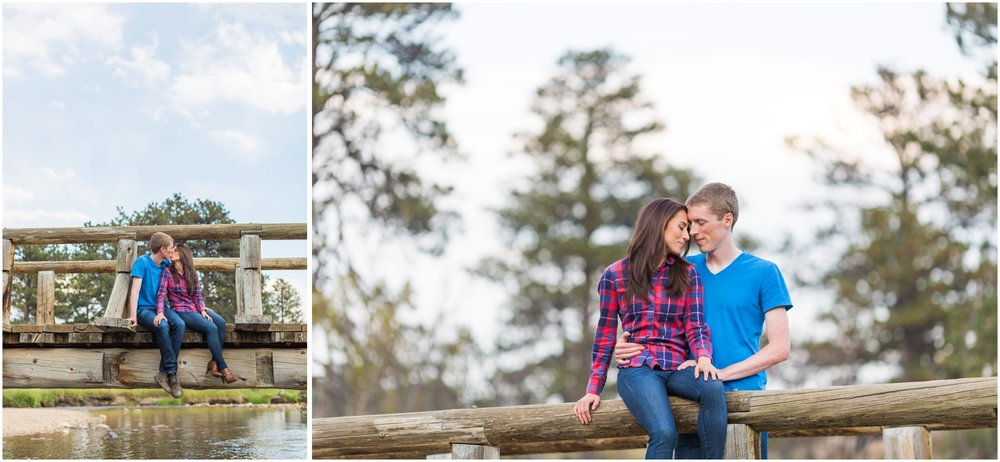 Estes Park Engagement Photos on a Bridge.jpg