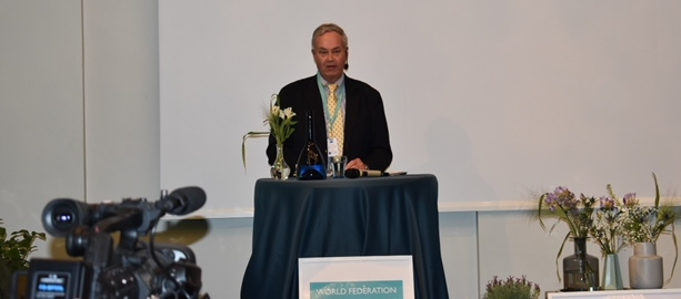 Peter Boyce addresses the World Conference Against Drugs in Gothenburg Sweden on behalf of the NNOAC Foundation.