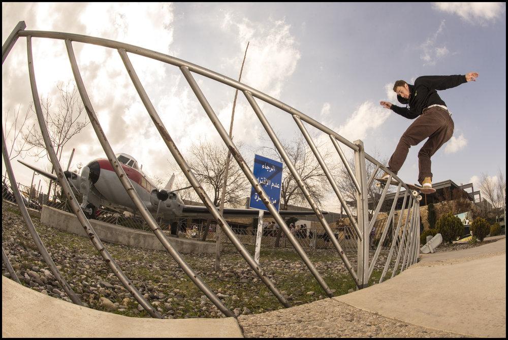 Frontside Boardslide by Patrik Wallner in Amman, Jordan