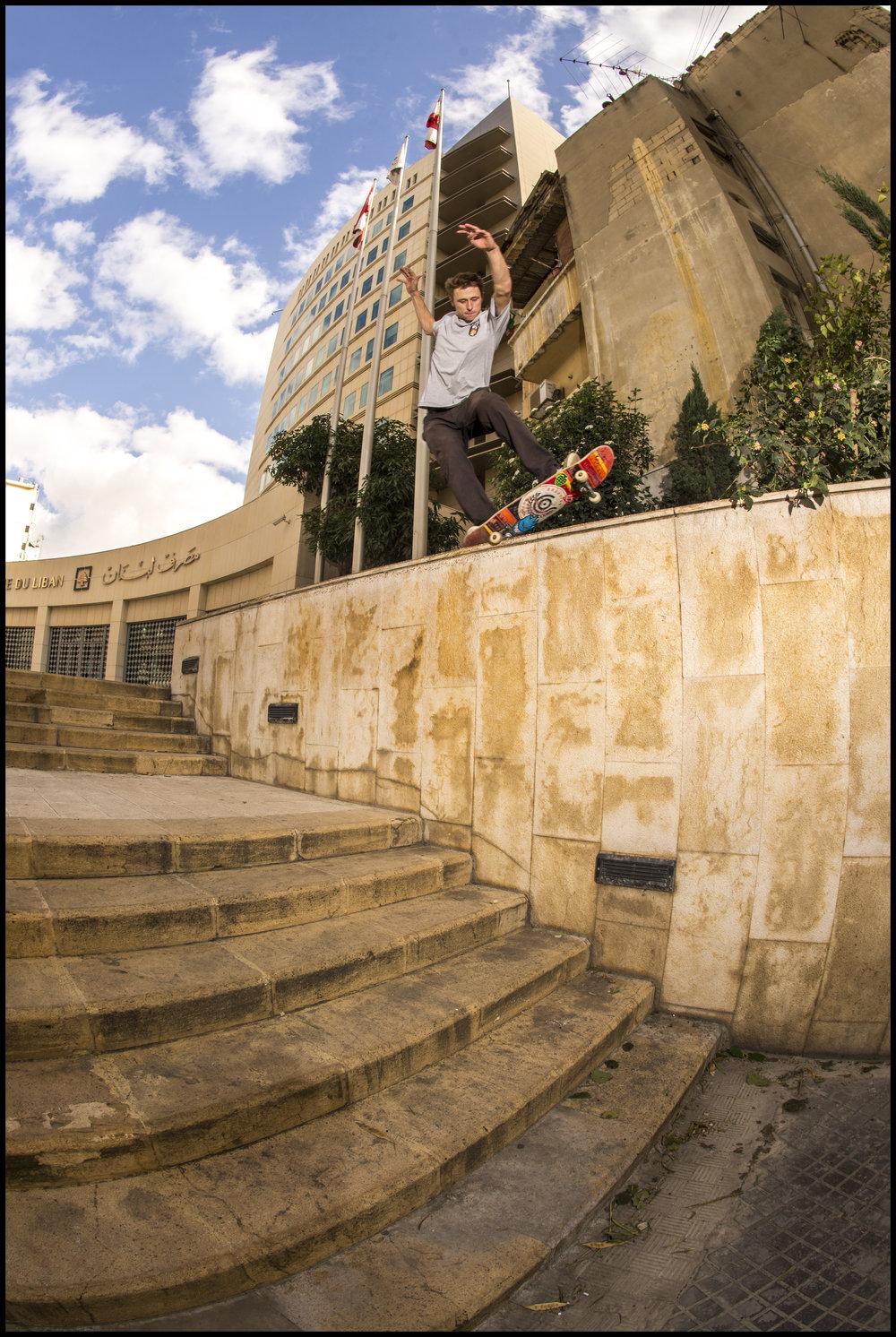 Backside 5-0 by Patrik Wallner in Beirut, Lebanon
