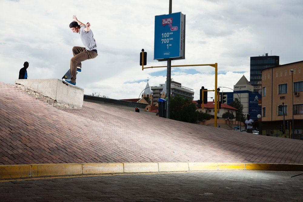 Frontside Nosegrind by Sam Mcguire in Namibia