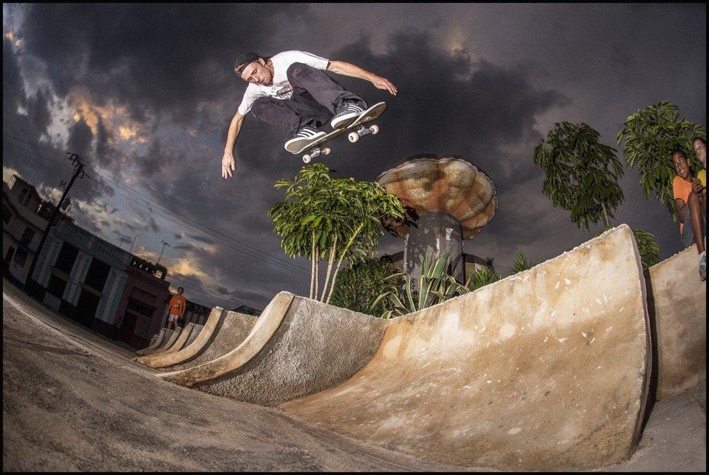Backside Ollie by Patrik Wallner in Cienfuegos, Cuba