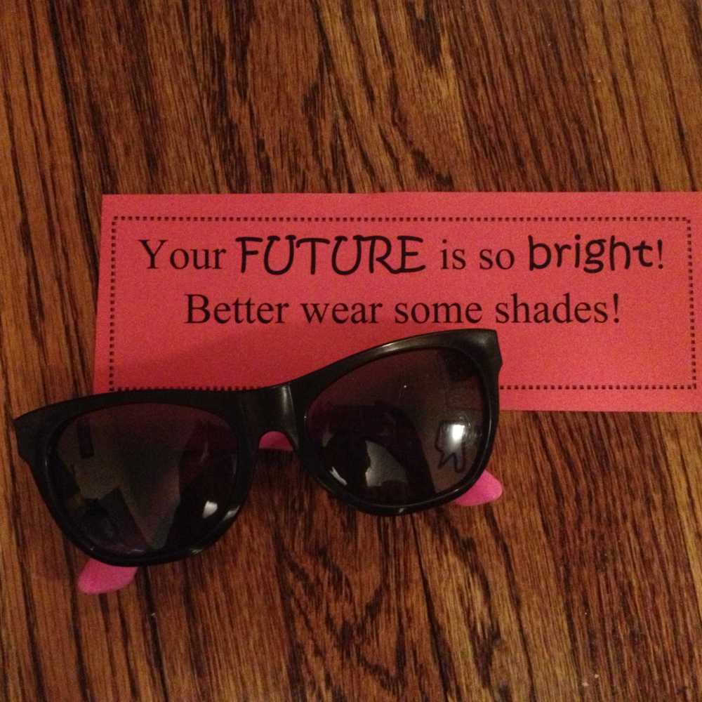 Your future is so bright better way some shades - with some wayfarer sunglasses with neon pink legs. Wayfarer glasses just never get old.